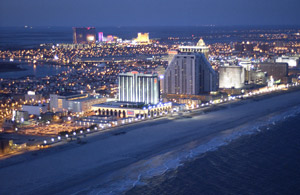 Atlantic City Casinos at Night