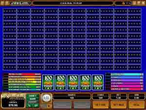 100 hands video poker