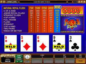mansion online casino joker poker