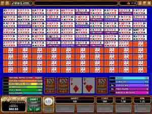100-hand video poker free